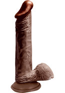 Lifelikes Vibrating Black Knight Dildo 8in - Chocolate